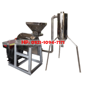 Mesin Penepung Kopi With Cyclone (Hammer Mill With Cyclone) Material Stainless Steel - Mesin pengolahan tepung