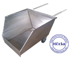 Cradle stainless steel trolley limbah potong ikan